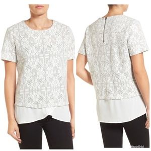 [Pleione] Layer Look Textured Knit Top